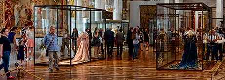 "Opening of the exhibitions ""The Hermitage Encyclopaedia of Textiles. History"", and ""The Hermitage Encyclopaedia of Textiles. Conservation"""