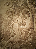 Presentation of a drawing by Hendrick Goltzius, Bacchus, Venus and Ceres