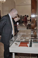 Presentation of the exhibits donated to the Guards Museum by thevPreobrazhensky lifeguard regiment's Descendant Members