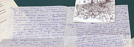 Presentation of letters about the museum during and after the Great Patriotic War donated to the State Hermitage