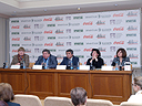 A Master Class and Press Conference in the Hermitage-Kazan Exhibition Center as part of the State Hermitage Museum and the Coca Cola Company's joint Preserving Cultural Heritage Together program