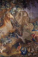 Tapestry Elephant and Horse Purchased  by the Hermitage
